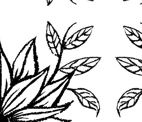 flower_twig_white_large fabric by blayney-paul on Spoonflower - custom fabric