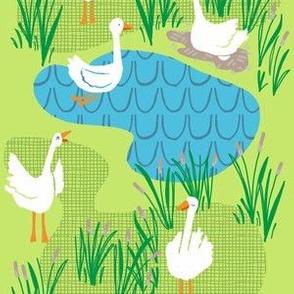 geese scene_celery green