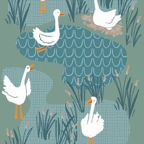 geese scene_pistachio green