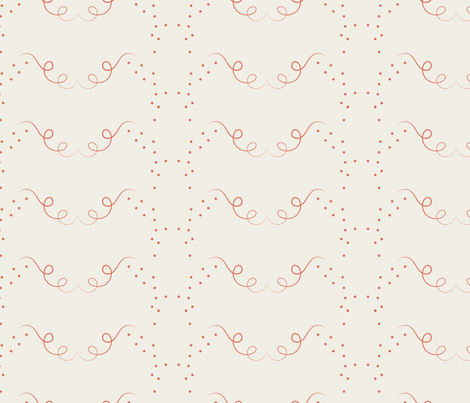 Acorn Fall Swirls - beige fabric by applebutterpattycake on Spoonflower - custom fabric