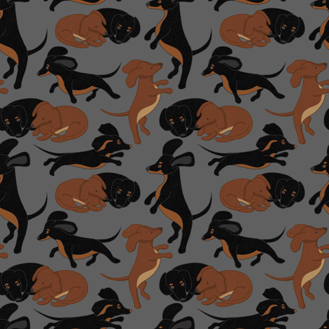 Small Toby and Penny fabric by vo_aka_virginiao on Spoonflower - custom fabric