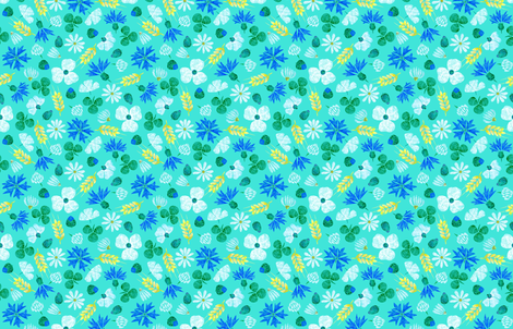 Moroccan Wheat Meadow #2 (mint) fabric by helenpdesigns on Spoonflower - custom fabric