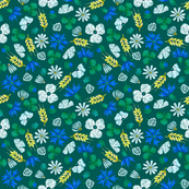 Moroccan Wheat Meadow #2 (teal)
