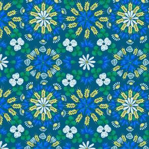Moroccan Wheat Meadow (peacock)