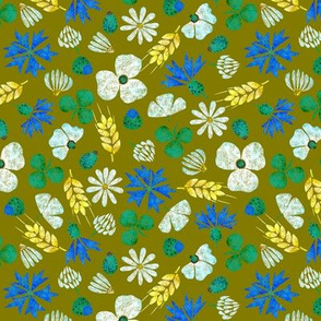 Moroccan Wheat Meadow #2 (olive)