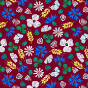 Moroccan Wheat Meadow #2 (burgundy)