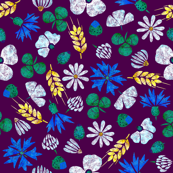 Moroccan Wheat Meadow #2 (purple)