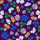 Moroccan Wheat Meadow #2 (purple)