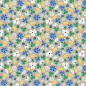 Moroccan Wheat Meadow #2 (beige)