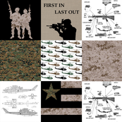 Marines Faux Quilt