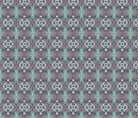 Zen Flowers in Blue and Lavender fabric by claldridgeart on Spoonflower - custom fabric