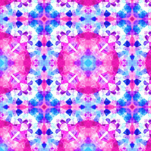 stained glass pink purple and blue