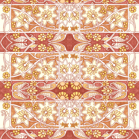 Sines of Spring fabric by edsel2084 on Spoonflower - custom fabric
