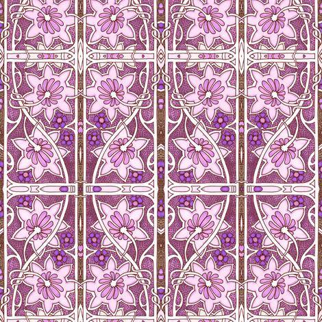 Sine Trellis Spring fabric by edsel2084 on Spoonflower - custom fabric