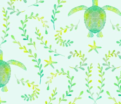 sea turtle pattern wallpaper maceymack spoonflower