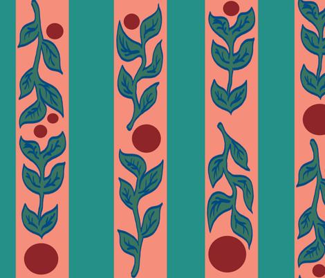 striped Fall fabric by dawntaylorart on Spoonflower - custom fabric