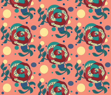 Fall_rose fabric by dawntaylorart on Spoonflower - custom fabric