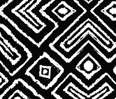 diamond_diagonal_black_large fabric by blayney-paul on Spoonflower - custom fabric