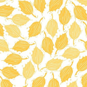 blockprint yellow leaves