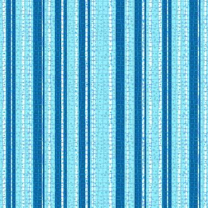 Textured Aqua Blue Candy Stripe