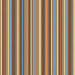 Textured Chocolate Orange Blue Yellow Candy Stripe