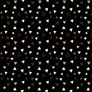 Multi Triangles - Black - Microprint