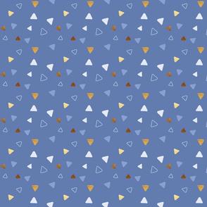 Multi Triangles - Indigo - Microprint