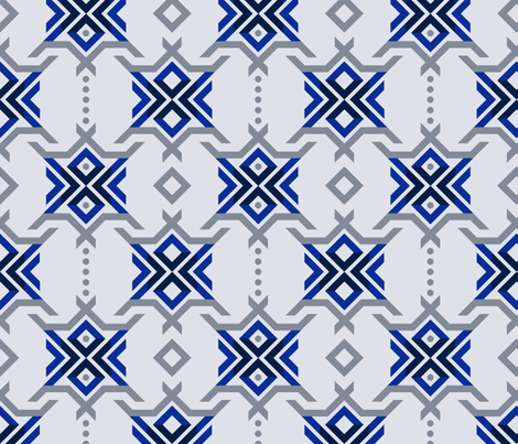 Snowflake Charms fabric by run_quiltgirl_run on Spoonflower - custom fabric