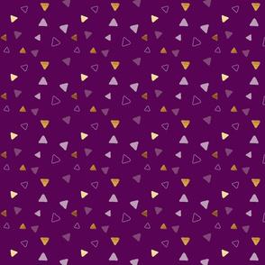 Multi Triangles - Wine - Microprint