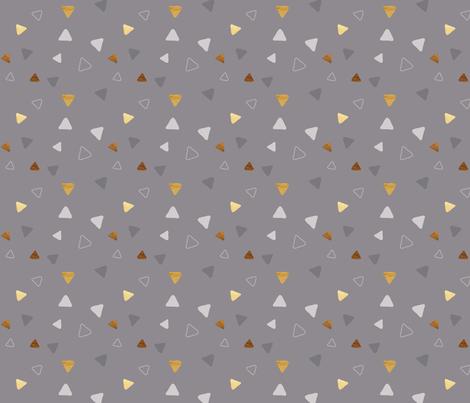 Multi Triangles - Gray - Microprint fabric by hilarycaroline on Spoonflower - custom fabric