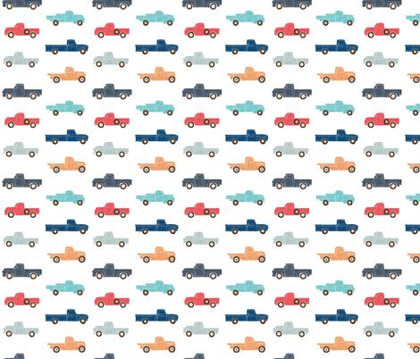 Vintage Trucks fabric by scarlette_soleil on Spoonflower - custom fabric