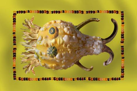 Bumpy Gourd Tea Towel fabric by enid_a on Spoonflower - custom fabric