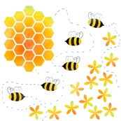 Buzzy Bees and Honeycomb
