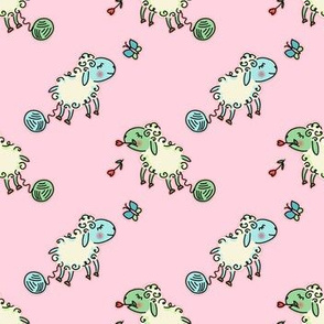 go to sheep - pink