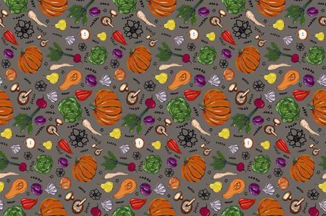 Famer's Market Fresh fabric by greenrainart on Spoonflower - custom fabric