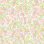 curlies - pink and green