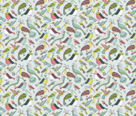 In Bloom Birds fabric by andie_hanna on Spoonflower - custom fabric
