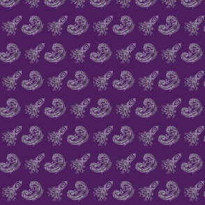 Paisley Purple Dragon and Spaceship