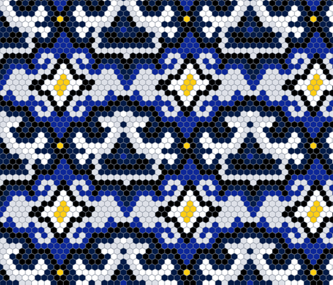 hex mod tile fabric by haleeholland on Spoonflower - custom fabric