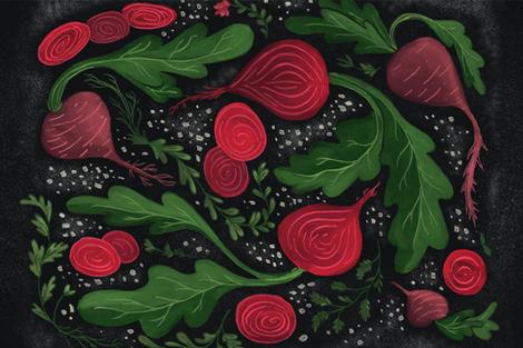 Turnip the Beet fabric by thestorysmith on Spoonflower - custom fabric
