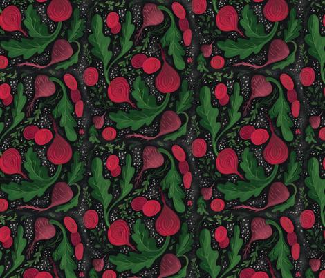 Turnip the Beet Pattern fabric by thestorysmith on Spoonflower - custom fabric