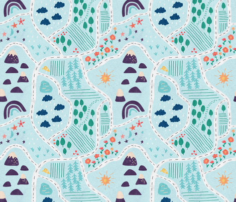 Farmland fabric by scarlette_soleil on Spoonflower - custom fabric