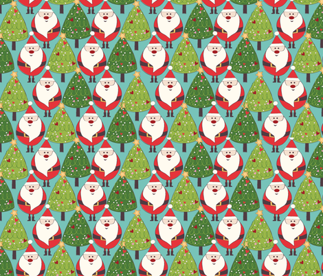 Mr. Claus fabric by christinelynnjohansen on Spoonflower - custom fabric