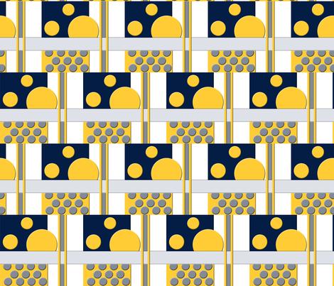 winter mod block fabric by violetmalu on Spoonflower - custom fabric