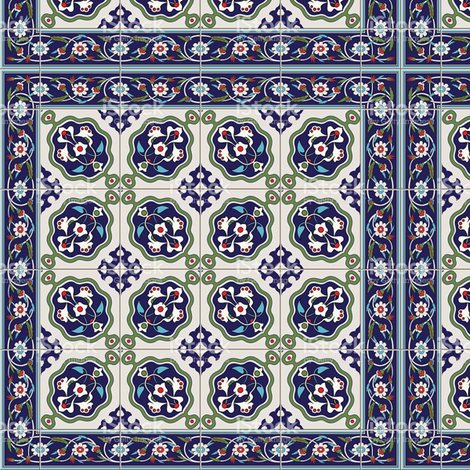 turkish_tiles fabric by enigmaticd on Spoonflower - custom fabric