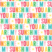 you are my sunshine // rainbow with light pink
