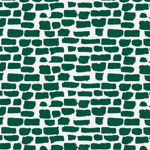 emerald green brush strokes brick daubs -ch