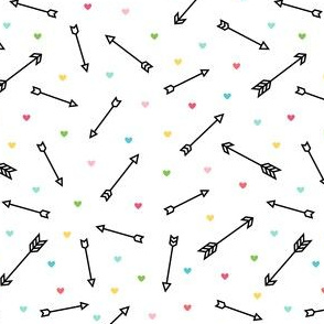 arrows & hearts multi-color black - arrow love
