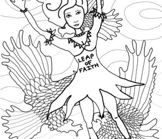 Leap of faith fabric by the_hoarder's_art_room on Spoonflower - custom fabric
