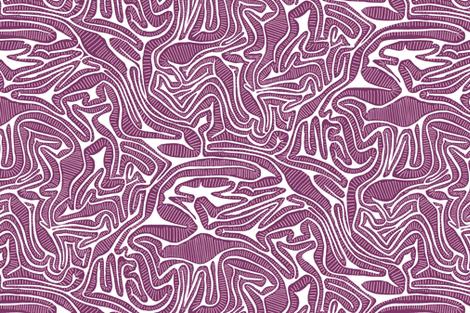 Red Cabbage Labyrinth fabric by marketa_stengl on Spoonflower - custom fabric